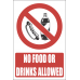 H16 - No Food And Drinks Allowed Sign