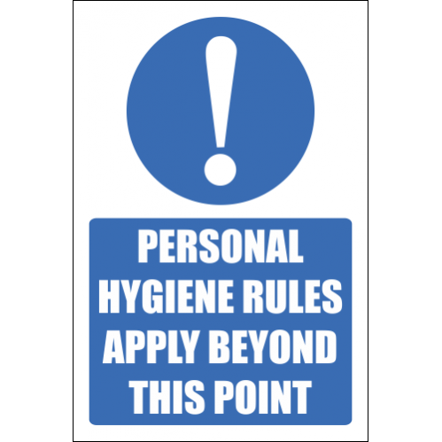 H18 - Personal Hygiene Rules Sign