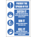 H19 -  Prevent The Spread Of Flu Sign