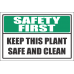 H21 - Safe And Clean Sign