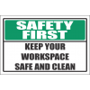 H20 - Safe And Clean Workspace Sign