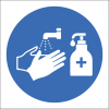 H23 - Wash And Sanitise Hands Sign