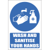 H24 - Wash And Sanitise Your Hands Sign