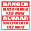 C3 - Blasting Keep Away Sign