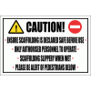 C12 - Caution Scaffolding Sign