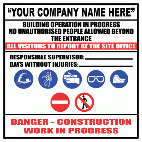 C32C - Construction Site Sign