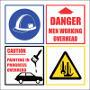 C21 - Danger Men Overhead Sign