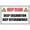 C10 - Deep Excavation Sign
