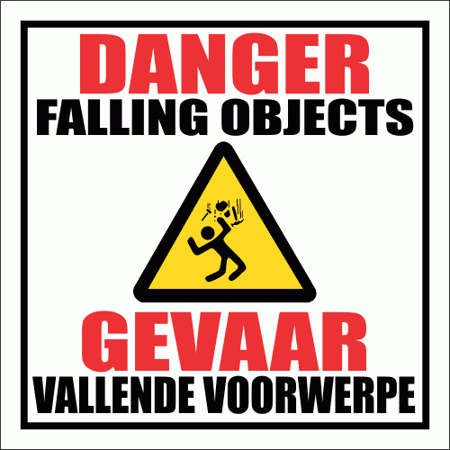 C14 - Falling Objects Sign