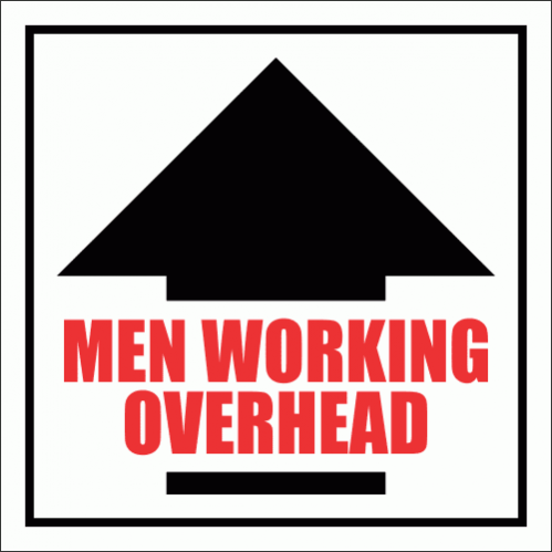 C17 - Men Working Overhead Sign