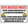 C19 - Site Access Rules Sign