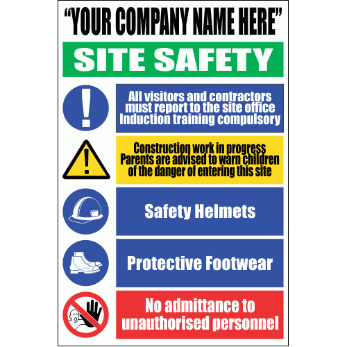 C22C - Site Safety Sign