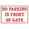 DI26 - No Parking In Front Of Gate Sign