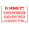 DI24 - No Responsibility indemnity Sign