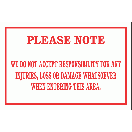 DI4 - Notice disclaimer Sign