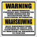 EL9 - Electric Shock Warning Sign