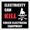 EL17 - Electricity Can Kill Sign