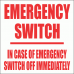 EL19 - Emergency Switch Sign