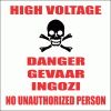 EL10 - High Voltage Danger Sign