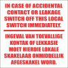 EL12 - Leakage Switch Sign