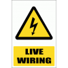 EL2E - Live Electrical Wiring Explanatory Sign