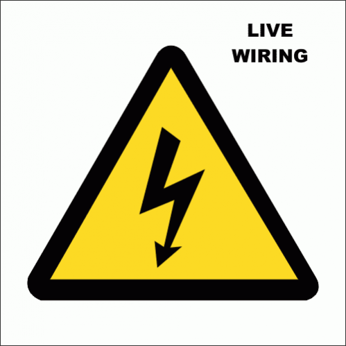 EL2 - Live Electrical Wiring Sign