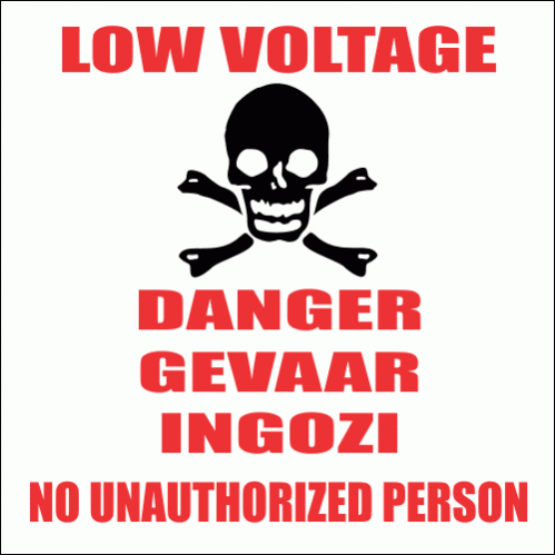 EL11 - Low Voltage Danger Sign
