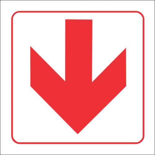 FB1 - SABS Red Arrow - Location of Fire Fighting Equipment  Safety Sign