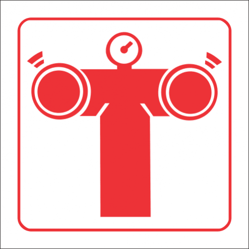 FB8 - SABS Fire Pump Connection Safety Sign