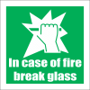 FR42 - Break Glass Safety Sign