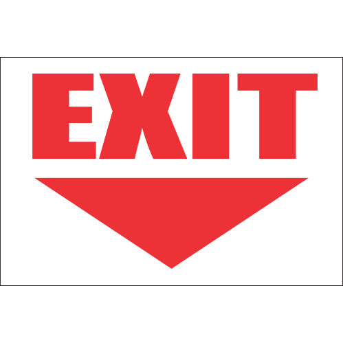 FR15 -Exit Ahead Safety Sign