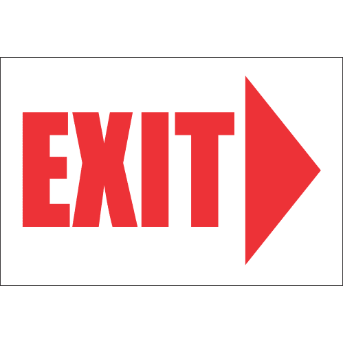 FR14 - Exit Right Safety Sign