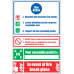 FR24 - Fire Action  Safety Sign II