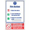 FR32 - Fire Action  Safety Sign IX