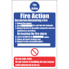 FR27 - Fire Action  Safety Sign V