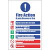 FR30 - Fire Action  Safety Sign VII