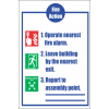 FR31 - Fire Action  Safety Sign VIII