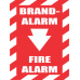 FR19 - Fire Alarm Chevron Safety Sign