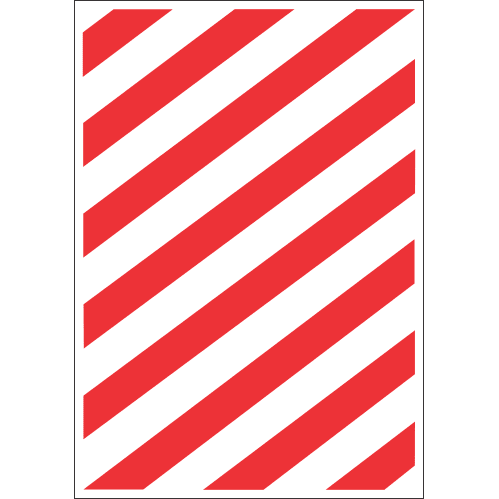 FR21 - Fire Chevron Safety Sign II