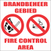 FR4 - Fire Control Area Safety Sign