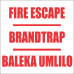 FR6 - Fire Escape Safety Sign