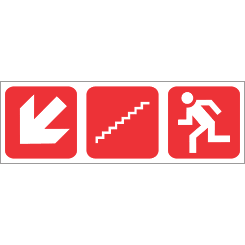 FR58 - Fire Escape Stairs Down Left