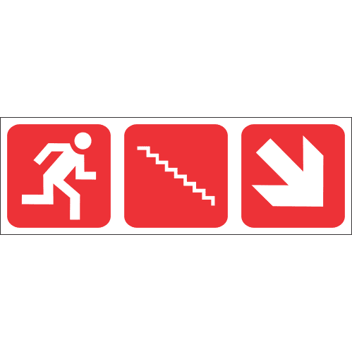 FR57 - Fire Escape Stairs Down Right