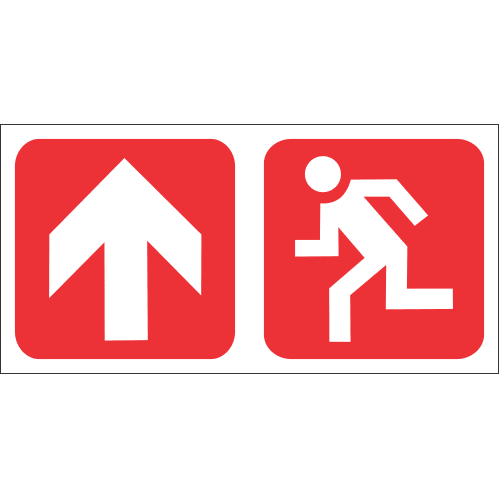 FR54 - Fire Exit Ahead Safety Sign