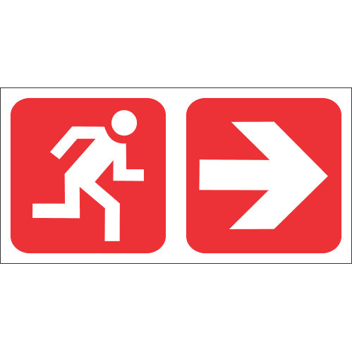 FR51 - Fire Exit Right Safety Sign