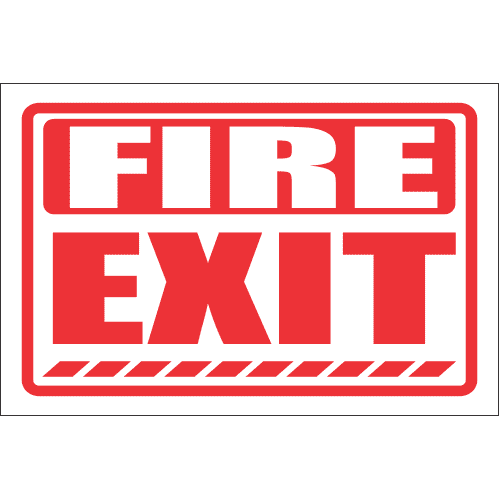 FR44 - Fire Exit Safety Sign