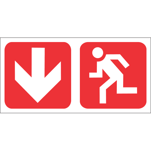 FR53 - Fire Exit Safety Sign