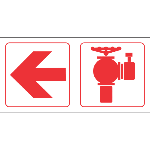 FR68 - Fire Hydrant Left Safety Sign
