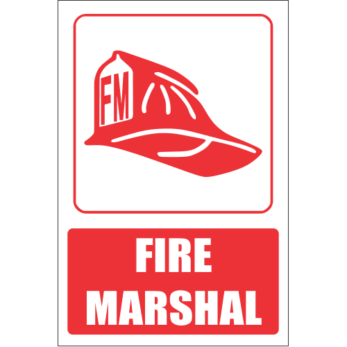 FB10E - Fire Marshal Explanatory Safety Sign