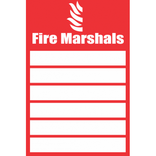 FR34 - Fire Marshals Safety Sign